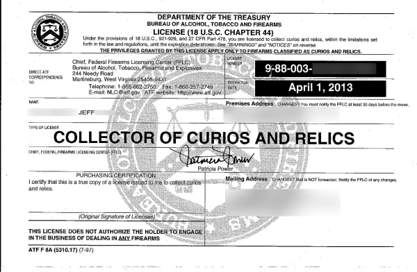 How to get your Curio & Relics License