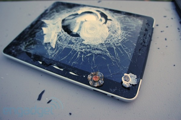 Nifty:  Bullet-resistant armor for your iPAD.