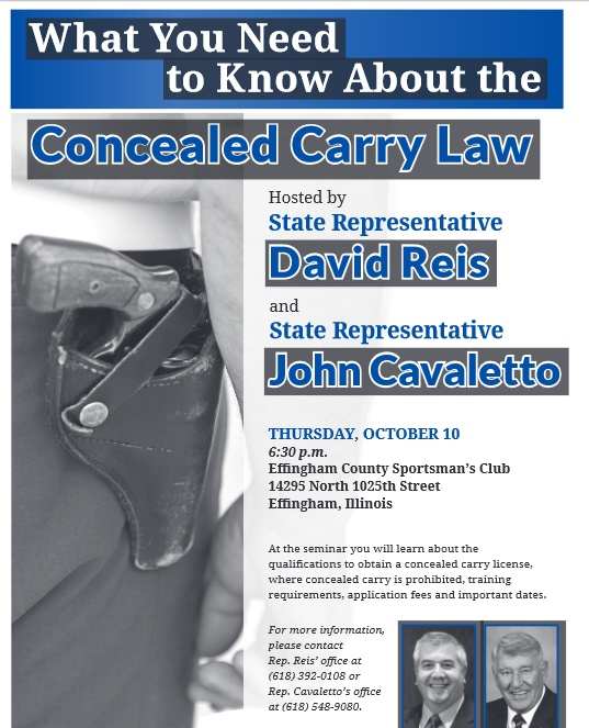 Coming Thursday night in Effingham: Town Hall on Concealed Carryeffingham town