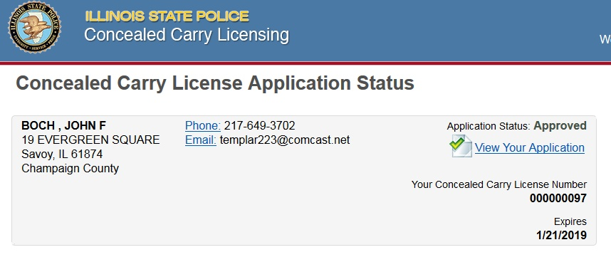 Approved for Illinois CCW? Not so fast, pal. - GunsSaveLife.com ...