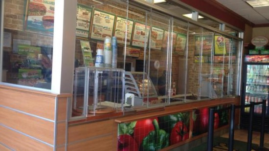 CHICAGO ISN'T SAFE:  Subway behind bulletproof glass
