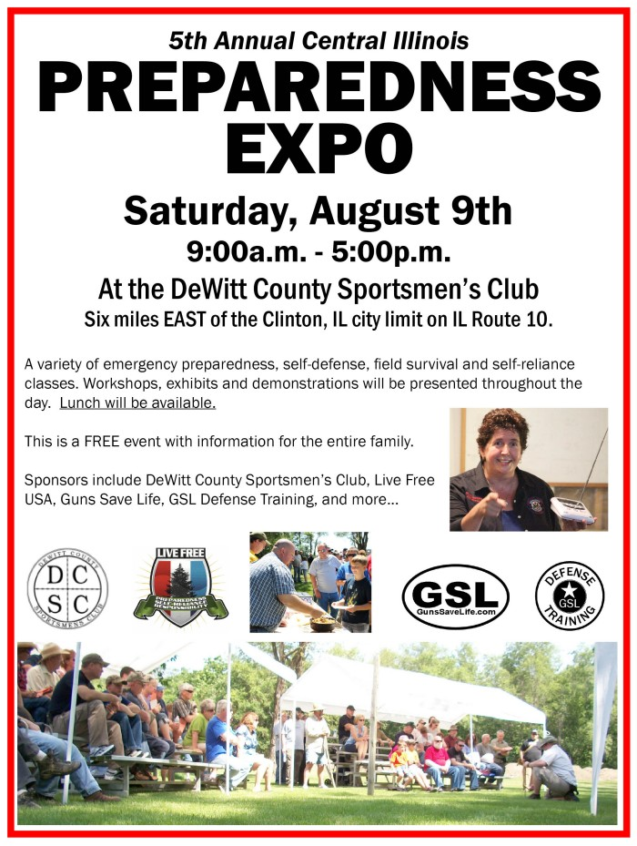 DISASTER PREP EXPO:  Preparedness Expo coming to Clinton, IL on August 9th.