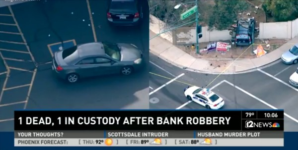 KARMA:  Phoenix bank robbers meet armed citizen, suffer perforations