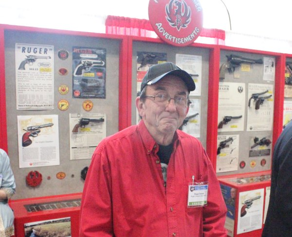 """Guns Save Life's director Roger Dorsett brought part of his award-winning Ruger display down to this year's NRA convention.  Some years ago, his original display won """"best of show"""" at the NRA convention."""