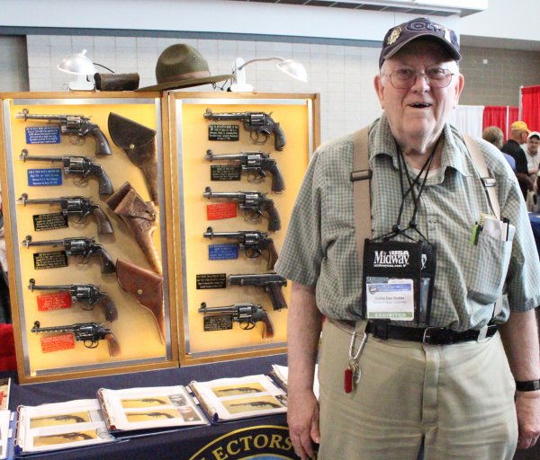 Guns Save Life's very own Dan Sadler also brought an award-winning display of early Colt military revolvers.  Sadler has one of the best collections in the nation.