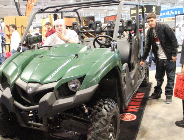 A six-person 4-wheeler.  No, Mr. Wheeler, we can't get one for classes.  List price?  Under $14k.  Looks like fun.  List price doesn't include rifle mounts or a pintle on top.