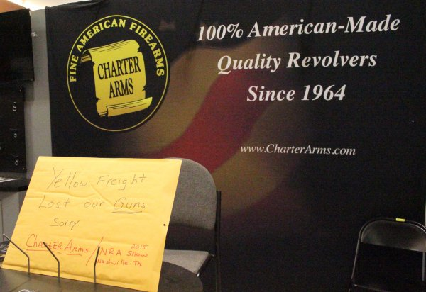 Charter Arms was missing their guns. Seems someone lost them.