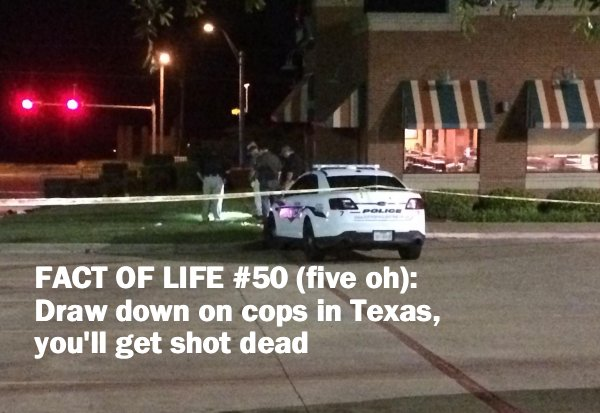 """THUG LIFE:  """"Just trying turning his life around"""" thug pulls gun on cops.  Guess what happens next (VIDEO)"""