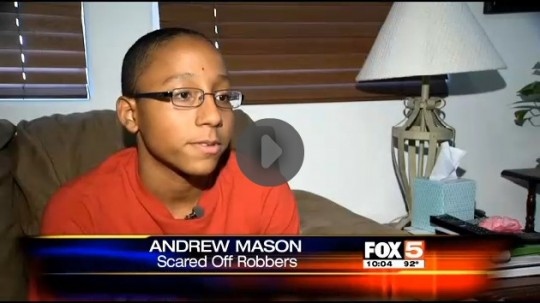 ARMED AMERICAN:  Armed 14-year-old thwarts home invaders
