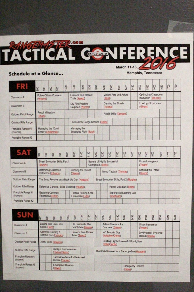 BOCH: Rangemaster Tactical Training Conference review and