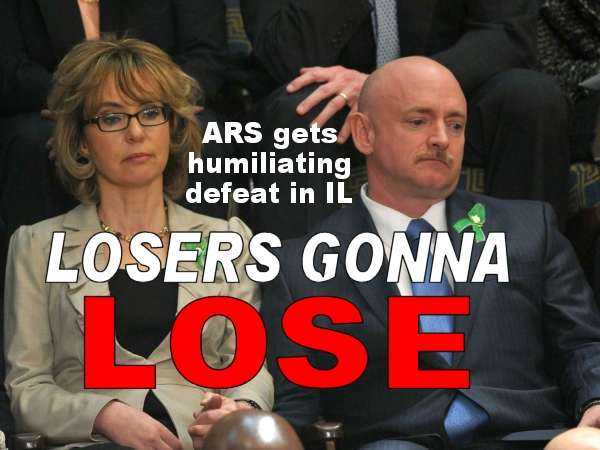 A KICK IN THE TEETH:  Giffords' Americans for Responsible Solutions gets soundly rebuked in the Illinois General Assembly