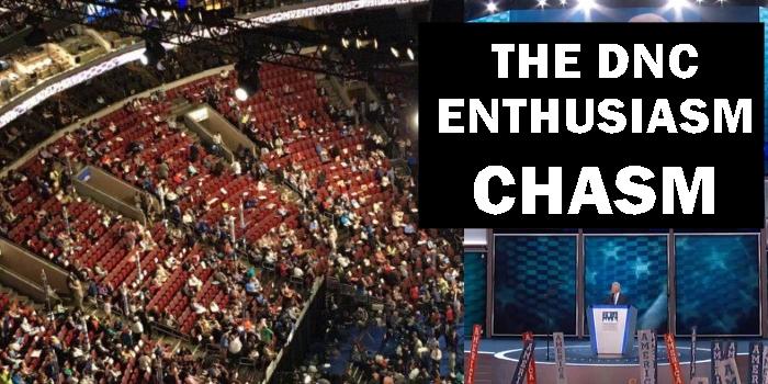 THE ENTHUSIASM CHASM:  Democrat convention alienates America & Democrats alike