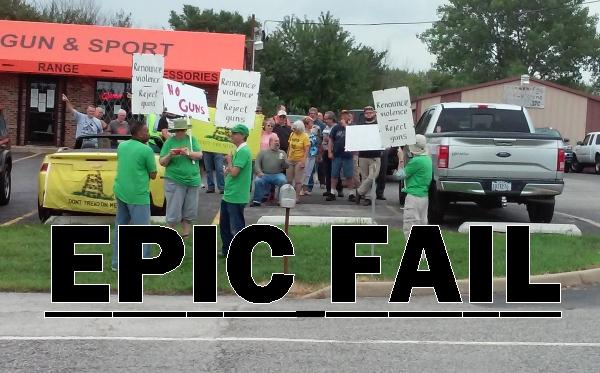EPIC FAIL:  Lee Goodman's latest suburban Chicago gun store protests a complete farce