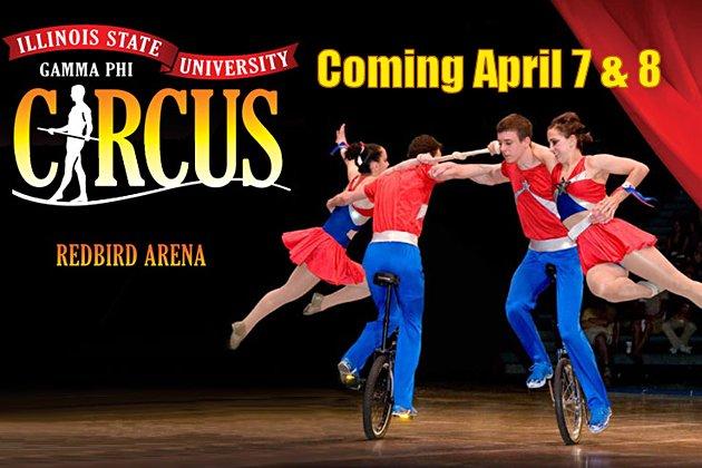 GO.  BRING THE FAMILY!  Gammi Phi Circus at IL State University April 7 & 8