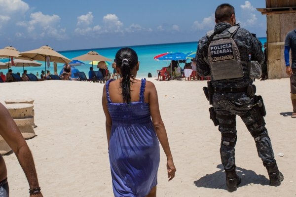 Mexican beach patrol