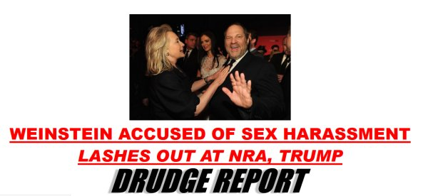 "LOSER:  Sleazy ""Mr. Sexual Harassment Settlement"" Harvey Weinstein to Attack NRA"