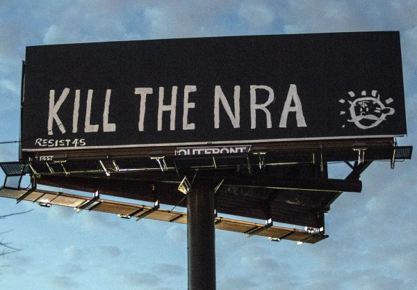 "TALK IS CHEAP:  ""Kill the NRA"" Billboard in Kentucky"