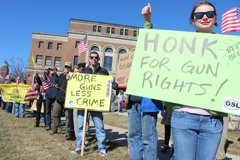 WHAT REAL GRASSROOTS LOOKS LIKE:  Bloomington Rally For Gun Rights Draws Nearly 200.