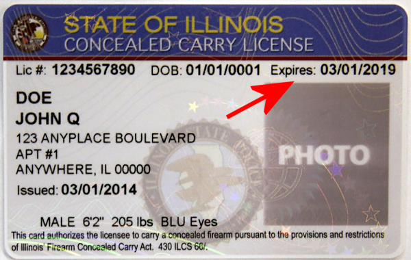 "Illinois State Police to release ""Renewal"" training certs any day now."