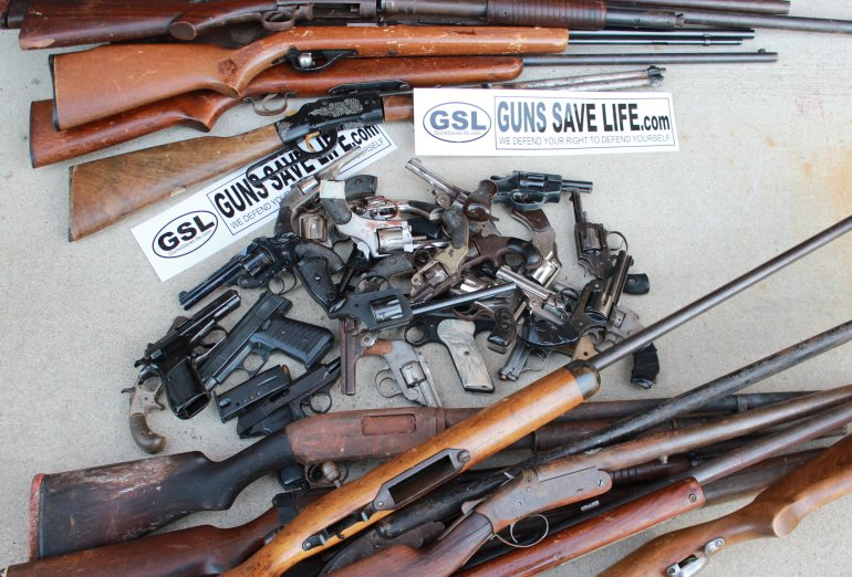 YES, AGAIN!  Guns Save Life Trades Junk for Cash At Chicago's Saturday Gun Buyback!