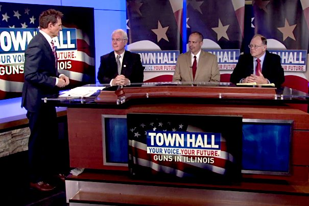 GOOD FUN:  Guns Save Life's John Boch at Springfield Televised Town Hall