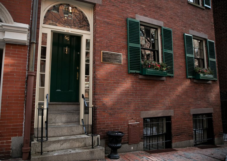 Louis Hayden's home, present day in Boston.  Photo courtesy NY Times.