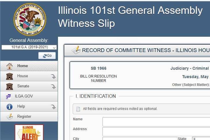 FILE WITNESS SLIPS:  Kathleen Willis' Racist Gun Bill in Hearing Tuesday!