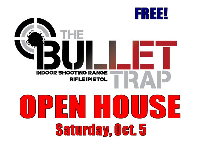 FREE:  Open House Saturday, October 5 at Bullet Trap in Macon, IL