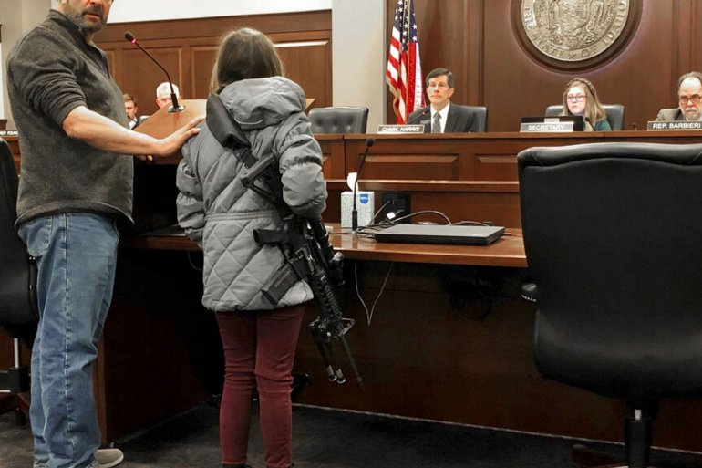 11-Year-Old Girl Brings Her AR-15 to Idaho Statehouse for a Hearing, Internet Melts Down