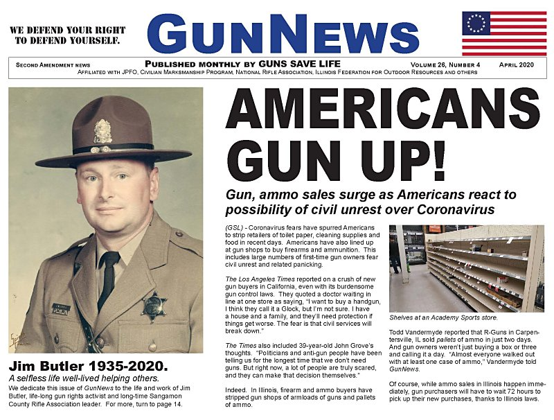 APRIL 2020 GUNNEWS:  Read this month's issue of GunNews ONLINE here!