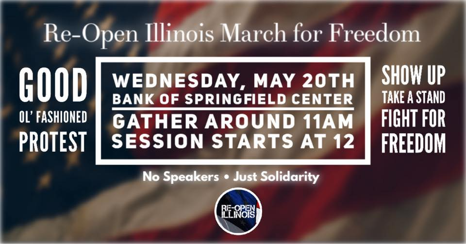 Re-Open Illinois Rally Wednesday in Springfield!