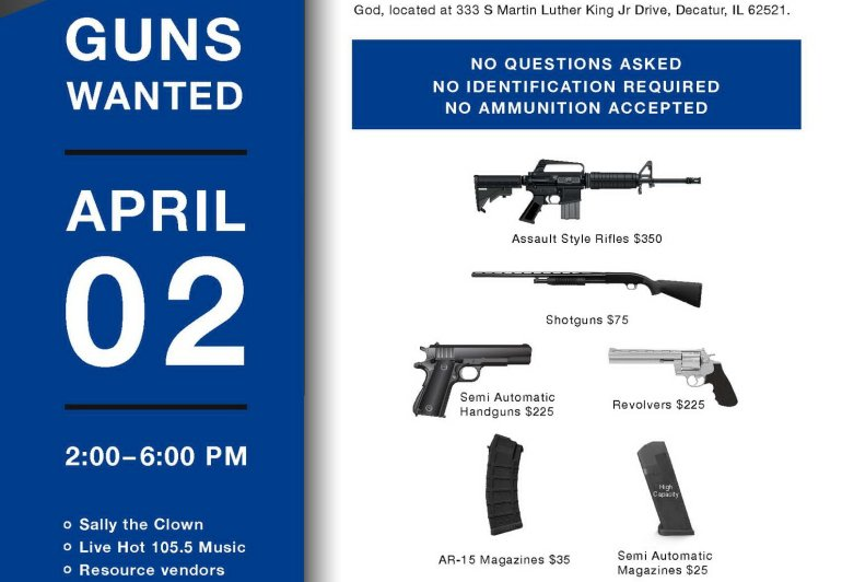 LET'S HELP!  Decatur Gun Buyback Coming April 2…  paying BIG $ for guns AND magazines