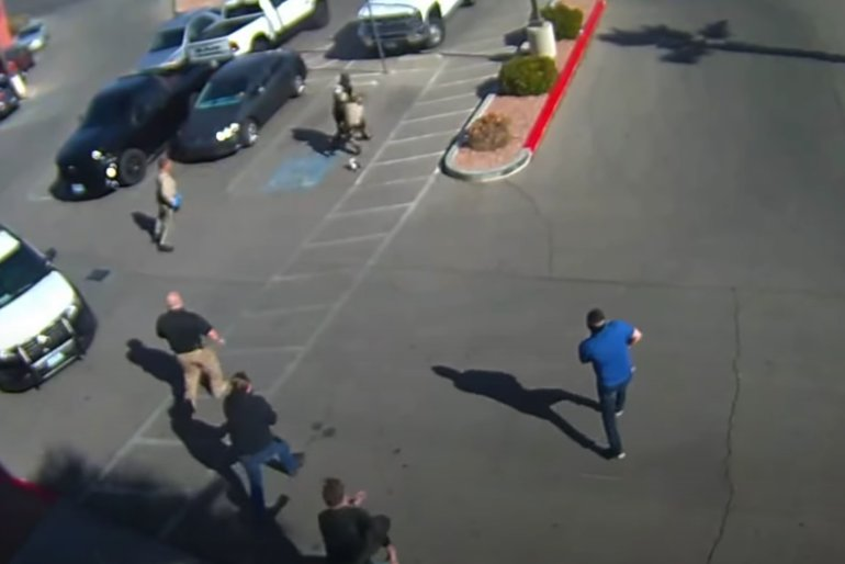 Man tries to steal pistol from CCW classroom, stabs cop, gets shot 14 times